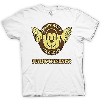 Don�t Make Me Get My Flying Monkees - Wizard Of Oz Inspired - 100% Cotton Short Sleeve Ladies T Shirt