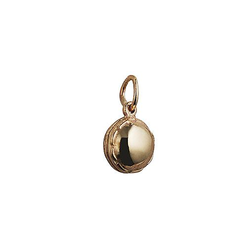 9ct Gold 10mm solid Cricket Ball Pendant or Charm