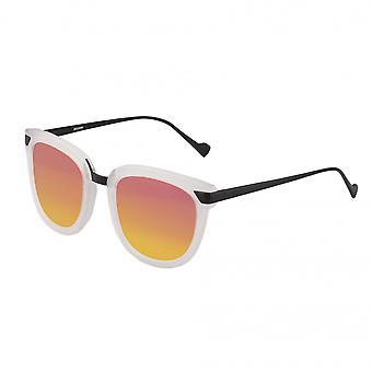 Bertha Jenna Polarized Sunglasses - Clear/Pink-Orange