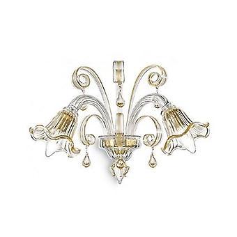 Idealne Lux - Ca' D'Oro Amber szklana ściana światło IDL020983