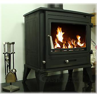 CASTMASTER Belvoir Cast Iron Wood Burner, Multifuel Stove 10-12kw