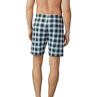 Mey Men 18950-188 Men's Lounge Ciel Grey Plaid Pyjama Short