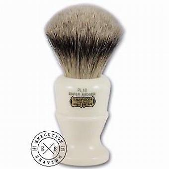 Simpsons Polo PL 10 Super Badger Hair Brush in Imitation Ivory