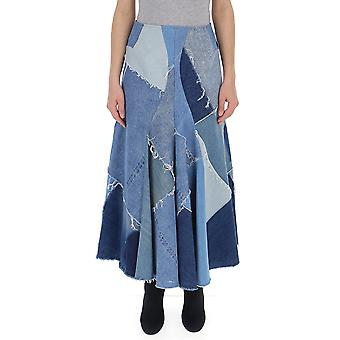 Junya Watanabe Light Blue Cotton Skirt