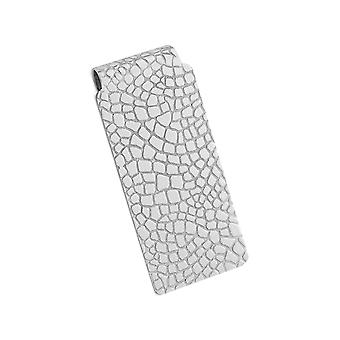 Money Clip in Sterling Silver with Rhodium Plating
