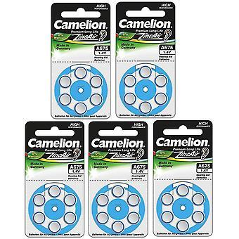 30-pakke Camelion høreapparat batterier skriver 675 blå