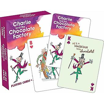 Roald Dahl Charlie y la fábrica de Chocolate cubierta de 52 tarjetas que juegan (nm)