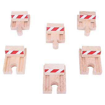 Bigjigs Rail Wooden Buffers (Pack of 6) Compatible Railway Track Expansion Set