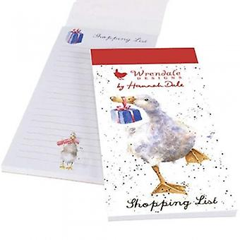 Wrendale Designs Christmas Duck Magnetic Shopping Pad