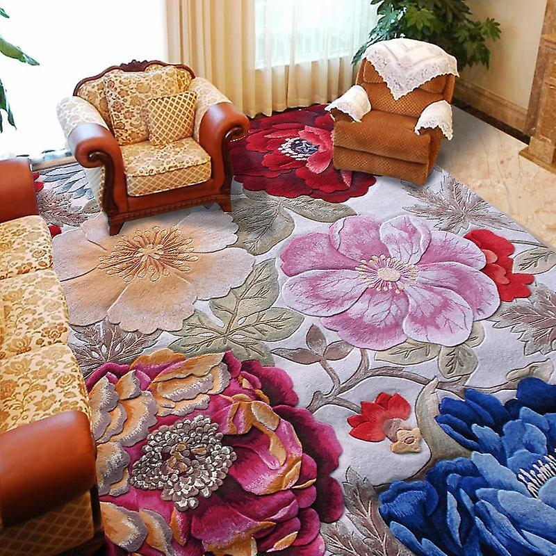 100% floral wool large Taille carpets for parlor living room