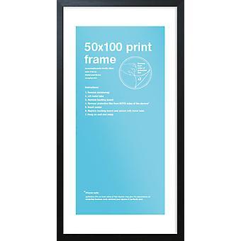 Eton marco negro 50 x 100cm cartel / impresión marco