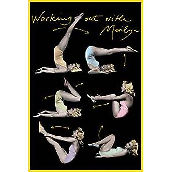 Poster - Working out with Marilyn - Wall Art CJ1538