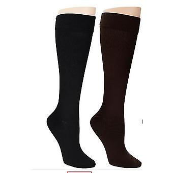 Legacy Socks Set of 2 Stretch Knit Pull-On Black/Brown A269482