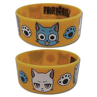 Wristband - Fairy Tail - New Cats Exceed PVC Anime Licensed ge54161