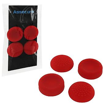 Thumb grips for sony playstation 4 controller concave convex silicone caps - 4 pack red