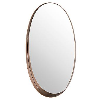 Hill Interiors Oval Mirror With Protruding Edge