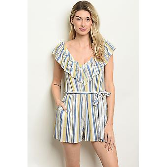Taupe stripes romper
