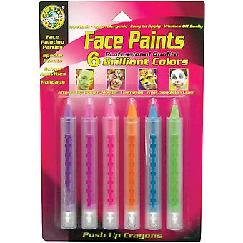 Push Up Face Paint 6 Pkg Brilliant 80043