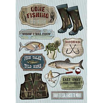 Fishing Cardstock Stickers 5.5