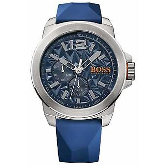 Hugo Boss Orange Mens Blue Rubber Strap cadran bleu 1513348 Watch