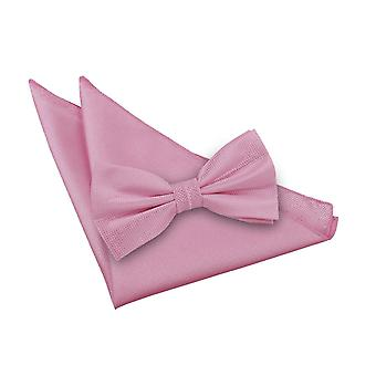Solid Check lys Pink Bow Tie 2 pc. Sæt