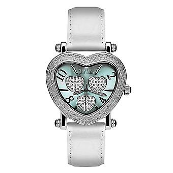 Joe Rodeo diamond ladies watch - MOVING HEART silver 0.75 ctw