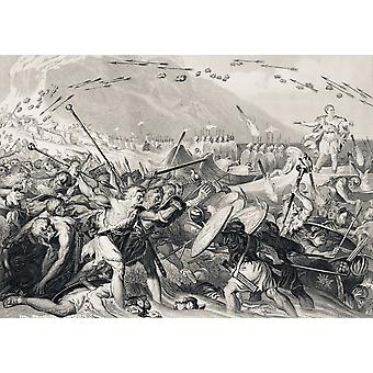 Julius Caesar Lands In Britain 55 Bc From The National And Domestic History Of England By William Aubrey Published London Circa 1890 PosterPrint