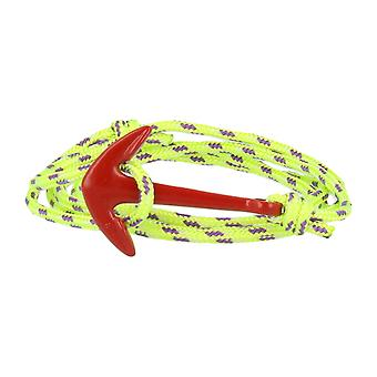 Vikings red-line anchor bracelet neon-green Nylon with anchor in red