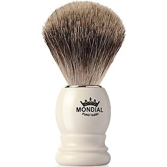Mondial Best Badger Shaving Brush Faux Ivory