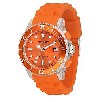 Candy Time by Madison N.Y. Uhr Unisex U4399-04-1 orange Flash