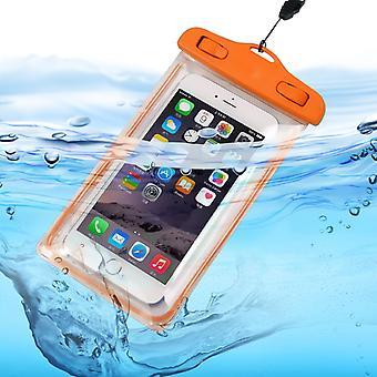 ONX3 (оранжевый) Samsung Galaxy Xcover 4 Универсальный прозрачный мобильный сотовый смарт-телефон, паспорт, деньги подводные водонепроницаемый защиты мешок Touch отзывчивым