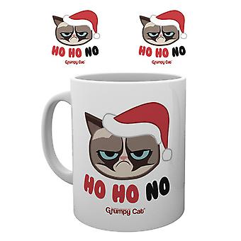 Gato gruñón Ho Ho Ho Navidad taza taza