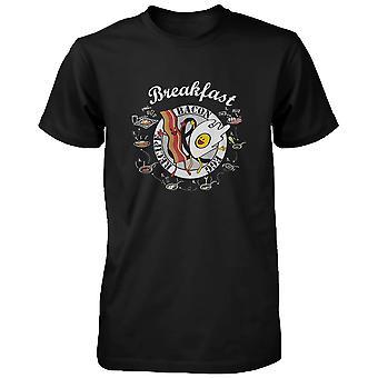 Wie erstelle ich Speck und Ei für Frühstück Männer Graphic T-shirt-Rezept drucken lustiges Shirt