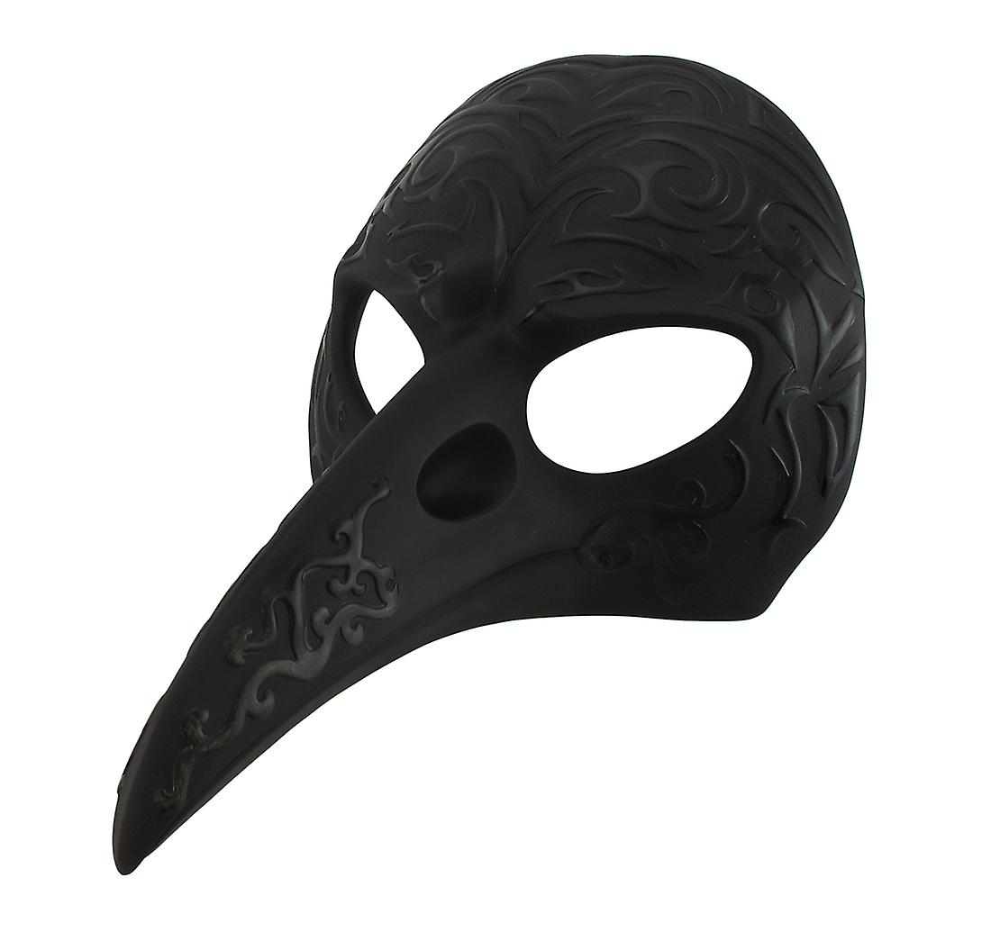 noir Patterned Crow Beak Carnival Mask Wall Hanging