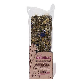 Boredom Breaker Natural Treats Cornflower & Daisy Sticks (Pack of 8)
