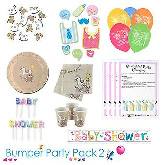 Rock A Bye Baby Shower Party Tableware Bumper Pack 2