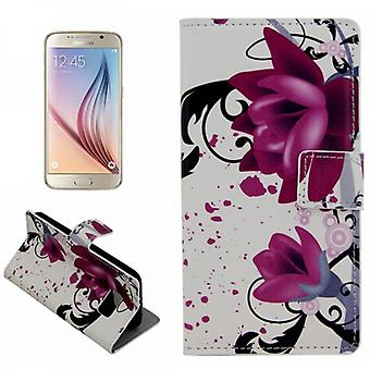 Cover wallet pattern 3 for Samsung Galaxy S6 G920 G920F