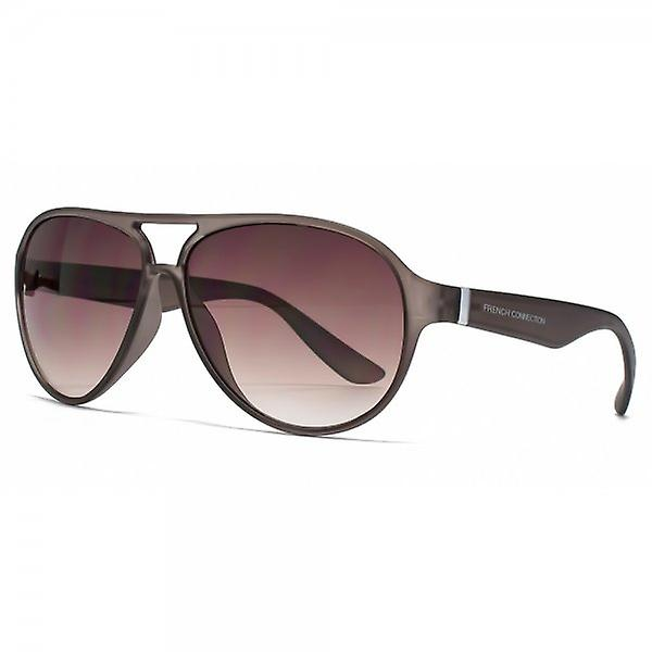 French Connection Plastic Aviator Sunglasses In Matte Crystal Grey