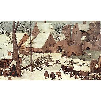 Pieter Bruegel the Elder - Village Detail Poster Print Giclee