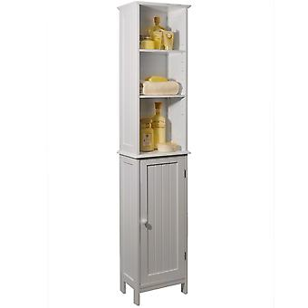 American Cottage - Tall Storage Cupboard With Display Shelves - White