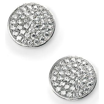 925 Silver Plated Rhodium And Zirconium Earring