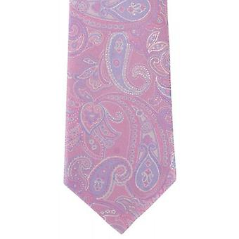 Michelsons of London Subtle Paisley Silk Tie - Pink