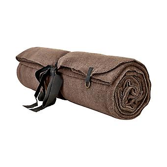 Henriette Steffensen Fleece blanket Plaid Yoga mat in dark brown, 120 x 180cm