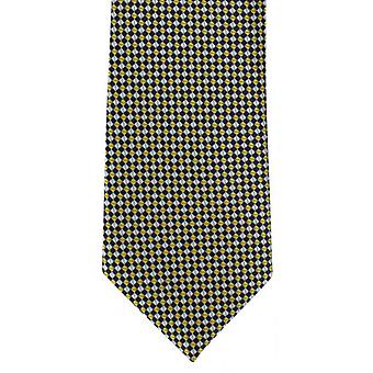 Michelsons of London Micro Grid Polyester Tie - Yellow