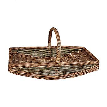 Medium Unpeeled Willow Garden Trug Basket