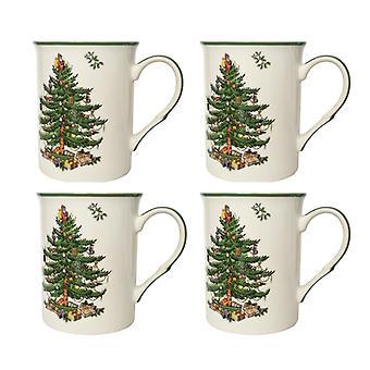 Spode Christmas Tree Set of 4 Mugs