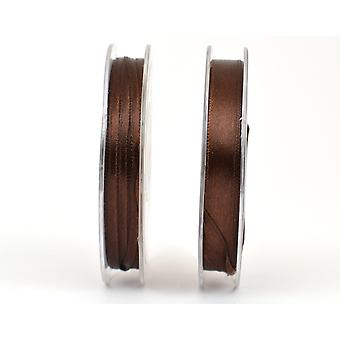 3mm Polyester Satin Craft Ribbon - 10m Reel - Brown | Ribbons & Bows for Crafts
