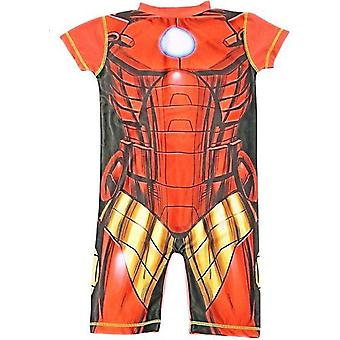 Boys Marvel Character Iron Man UV 50+ Protection Beach Swimming Costume Suit
