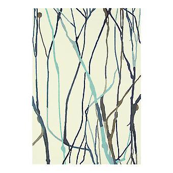 Xian Drip Ivory & Blue Abstract Rug - Brink & Campman