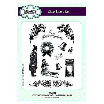 Creative Expressions Clear Stamp Set Festive Traditions | Christmas Past*^^
